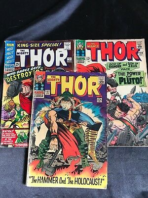 Lot Of 3 The Mighty Thor Comic Books #2 #127 #128