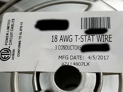 Honeywell Genesis 4711 18/3C 18awg 3 Conductor Solid Thermostat Cable Brown/50ft