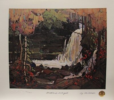 """TOM THOMSON """"WOODLAND WATERFALL""""  Group of Seven art print MINT Algonquin Park"""