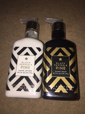 Bath & Body Works Black Pepper & Pine Hand Soap & Hand Lotion