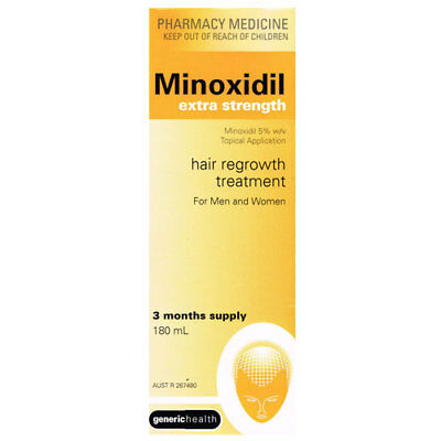 Minoxidil Extra Strength 5% 180Ml Hair Loss 3 Months Topical Regaine Growth