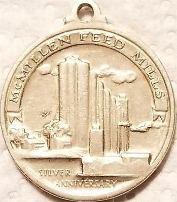 Vintage 1959 Agriculture Advertising Pendant Medal McMILLEN FEED MILLS Factory