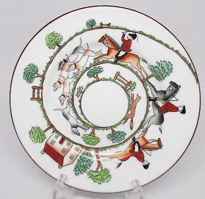 Crown Staffordshire - Hunting Scene - Bread & Butter Plate - England - C