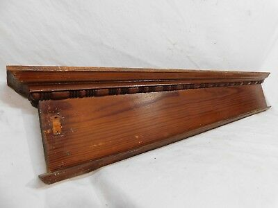 Antique Door Trim Pediment Stick and Ball - C. 1885 Fir Architectural Salvage