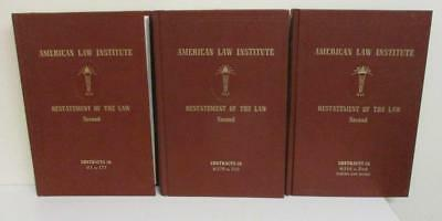 American Law Instistute Restatement of the Law Second: Contracts 3 volume HB set