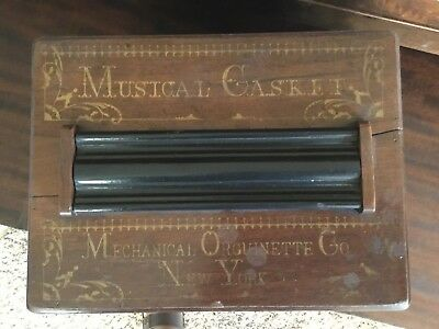 Mechanical Orguinette Co Musical Casket