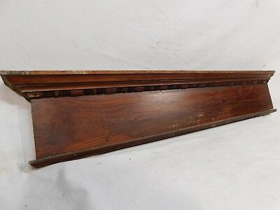 Antique Door Trim Stick and Ball Pediment - C. 1885 Fir Architectural Salvage