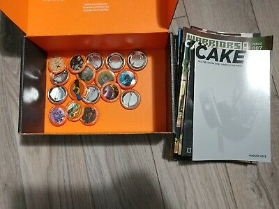 Loot Crate Pins and Magazine Lot! Issues 1-22 and 17 Pins!