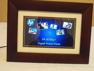 HP-DF730P1 7-Inch Digital Picture Frame (Espresso Brown) -USED Excellent Cond.