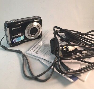 Olympus FE-310 8 megapixel digital camera Tested +Box+CD+Cables #968