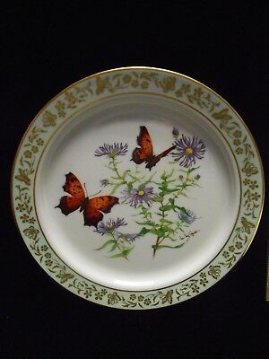 Lenox Porcelain Butterflies & Flowers Collectors Plate by VAL ROY GERISCHER #1