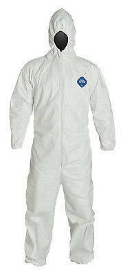 DuPont Tyvek TY127S Disposable Coverall with Hood, Elastic Cuff, White 1 Suit