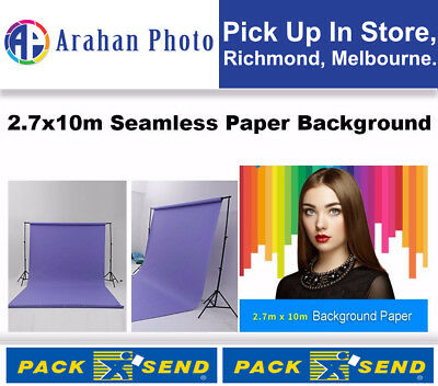 Selens 2.7x10 m Seamless Beauty Paper Backdrop Roll- Light Blue Color