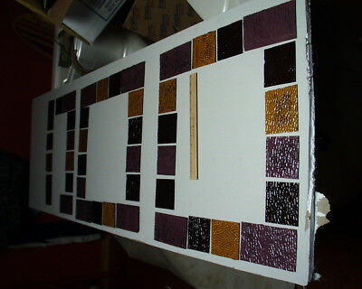 Lot of 41 Antique Vintage Queen Anne Colored Glass Window Panes