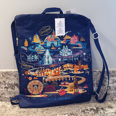 Disney Parks Disneyland Classic Attractions Cinch Backpack with Zipper Pocket