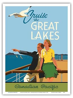 Great Lakes Canadian Pacific Norman Fraser 1938 Ocean Liner Poster Print