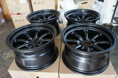 """For AE86 280ZX rs ta22  Z31 s30 260Z JDM 15"""" Retro Banana style Staggered wheels"""