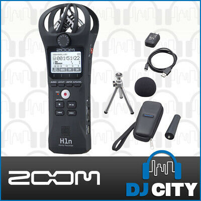 Zoom H1n Handheld PCM Portable Field Audio Sound Recorder w/ Accessory Pack