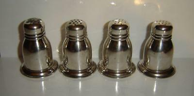 4 VINTAGE BIRKS STERLING SILVER SHAKERS 2 WITH CONDITION ISSUES 75 grams