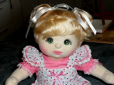 My Child Doll, Gorgeous Blonde With Green Eyes.  Exc. Condition