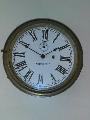 Vintage American Paddle Steamer Clock, The New Haven Clock Co, works,