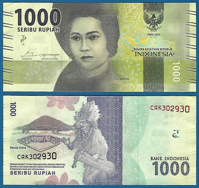 Indonesia 1000 Rupiah P New 2016 UNC Low Shipping! Combine FREE!