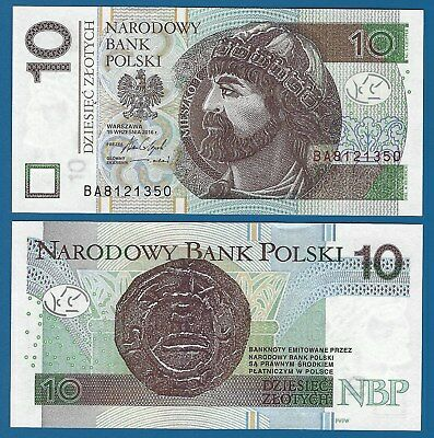 Poland 10 Zlotych P 183 New date 2016 UNC Low Shipping! Combine FREE!