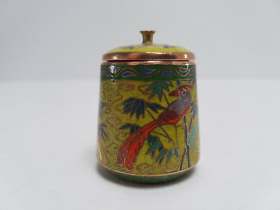 Rare Chinese Small Cloisonné Jar/pot Limited Edition #10