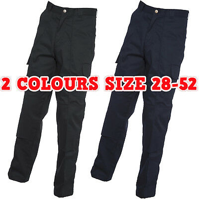 New Mens Womens Cargo Trousers With Knee Pad Pockets Work Wear Safety Pants LOT