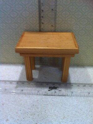 Dolls House 1:12th Scale  Handmade Chunky Pine Kitchen Table