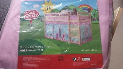 Shorty Creature friends tent for 3FT Single Wooden Mid Sleeper bed frame & CREATURE Friends For A Shorty Mid Sleeper Tent For The Girls ...