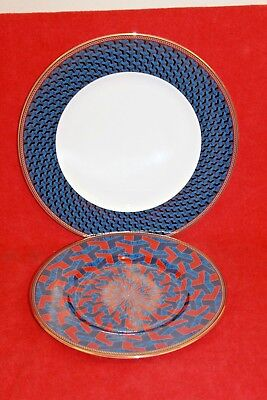 """Wedgwood ~ Byzance Design ~ Plates X 2..dinner Plate & 8"""" Plate"""