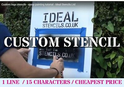 CUSTOM STENCIL A4 1 line of customised lettering Business Name Tool Marking  etc