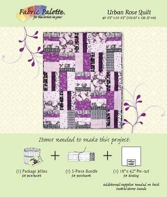 Quilting Sewing Patchwork FABRIC PALETTE URBAN ROSE QUILT Pattern New
