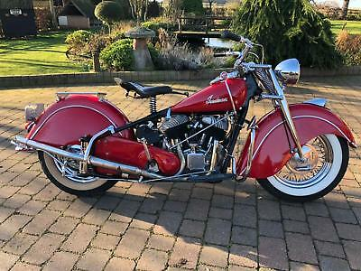 Indian CHIEF 1947 RARE 1300cc 80 CUBIC INCH ENGINE  ONLY 9200  SOLD