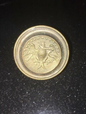 Antique Americana Brass Door Drawer Pull  Eagle  13 Stars 3 Pc