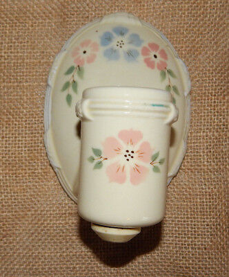 Antique Porcelain Wall Light Fixture Outlet  with Flowers by  Porcelier #D