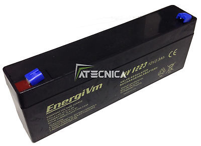 Lead-Acid Rechargeable Battery 12 12V 2,3 2A Batteries x Security Automation