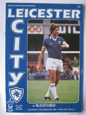 Leicester City v Watford 1981/82 FA Cup Programme