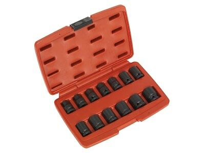 "Sealey Air Impact Wrench Socket Set 13 Pce 1/2""  Metric 10 - 24mm BI-HEX 12Point"