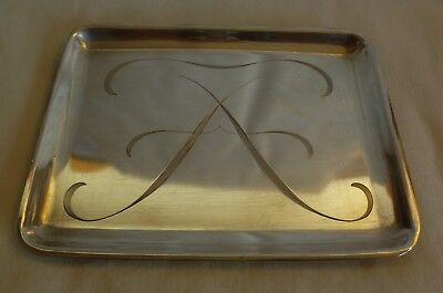 TIFFANY & Co  MAKERS STERLING SILVER  CALLING BUSINESS  CARD TRAY- 134 grams- #3