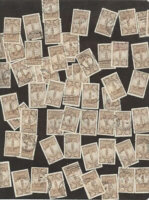 Stamps Canada # 257, 10¢, 1942, lot of 100 used stamps.