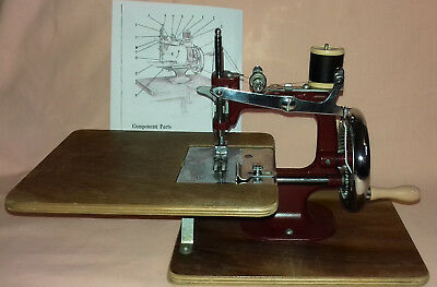 Vintage Miniature Chain Stitch Essex Sewing Machine + Copy Instructions