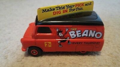 Rare - Lledo Days Gone Diecast Bedford Van Promoting Beano Comic With Roof Sign