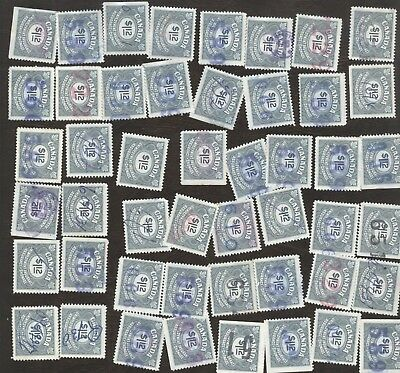 Revenue Stamps Canada #FU 46, $1.12, 1955Unemployment Ins lot of 100 used stamps