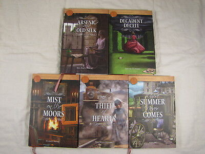 5 books from Annie's Secrets of the Quilt mystery series Arsenic,Decadent,Mist,T