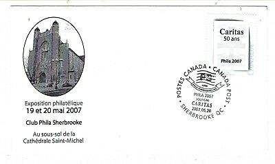 2007 Sherbrooke, Que. Philatelic Exposition Picture Postage First Day Cover FDC