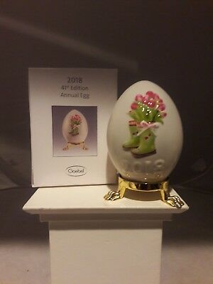 Goebel, 2018 Annual Egg, Motif-Tulips, 41St Edition, Mint And Boxed, Free  Usps