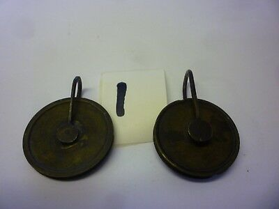 Two 18th Century 8 Day Grandfather Clock Weight Pulleys (1)