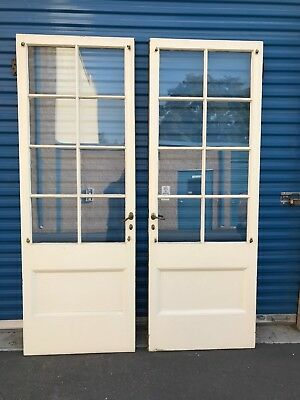 Phyllis Diller Antique Paneled French Doors - With Vintage Bronze Hardware